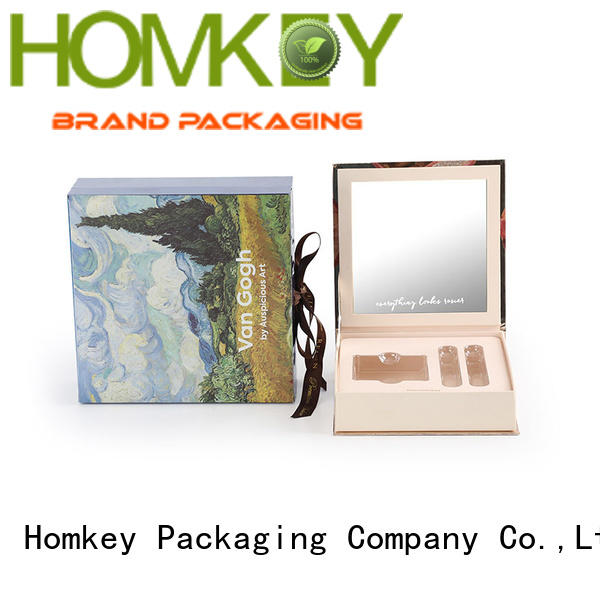 Homkey Packaging board cosmetic box in different shape for cosmetics