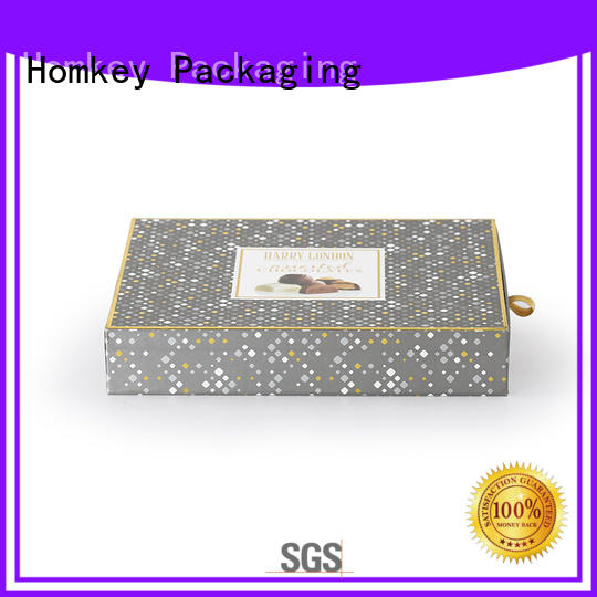 Homkey Packaging low cost chocolate packing boxes experts for gift packing