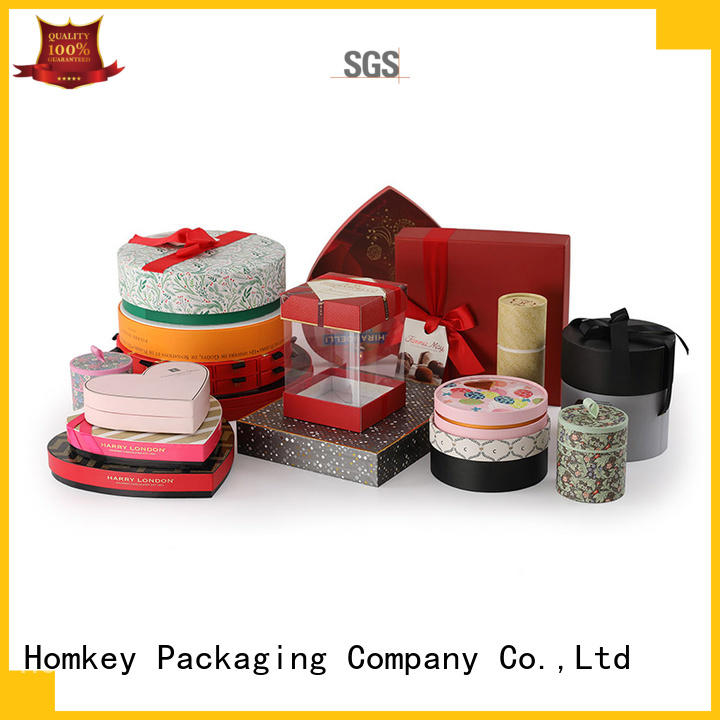 Homkey Packaging lid custom printed boxes free design for gift wrapping
