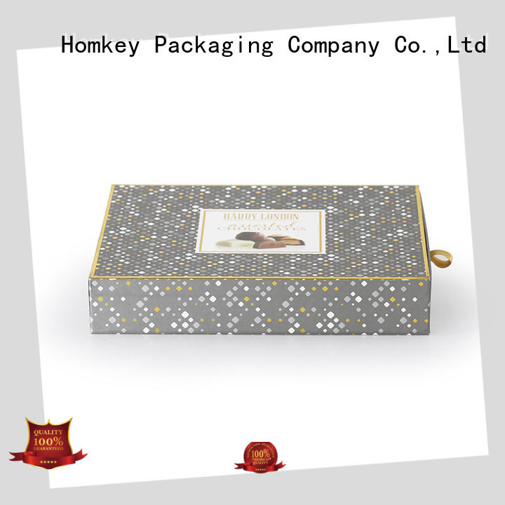 Homkey Packaging new-arrival cheap chocolate boxes long-term-use for gift packing