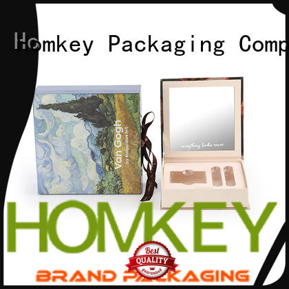 Homkey Packaging luxury custom packaging boxes in different shape for skincare items