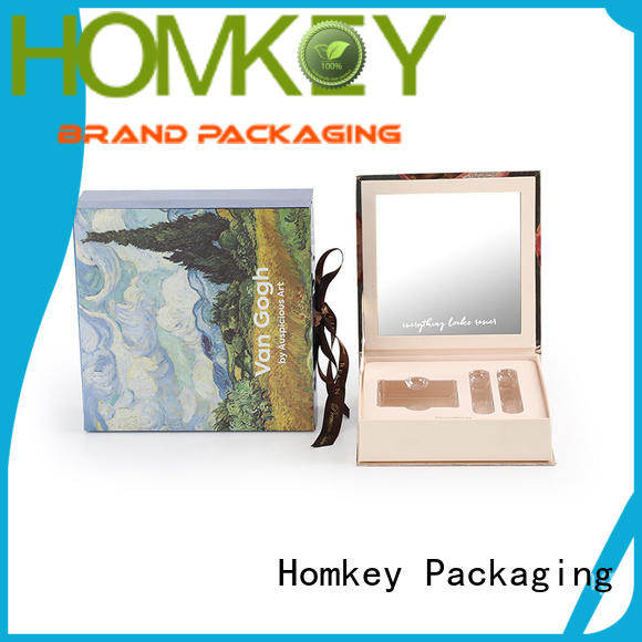 Homkey Packaging rigid cosmetic packaging boxes in different shape for skincare items