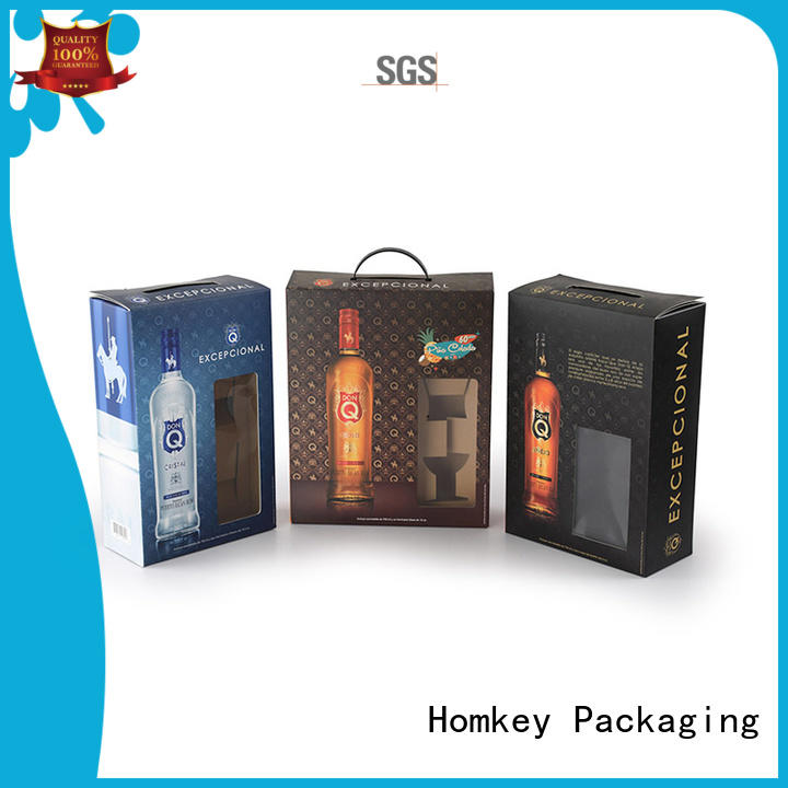 Homkey Packaging highend wine packing boxes certifications for gift wrapping