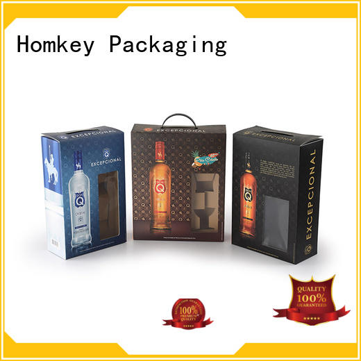 Homkey Packaging boxes wine bottle gift boxes widely-use for gift wrapping