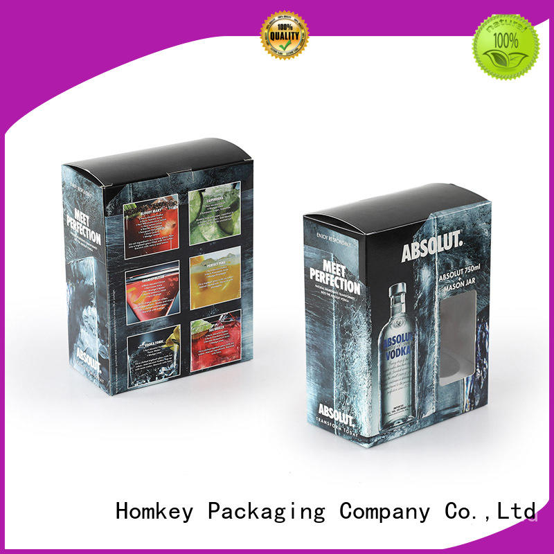 Homkey Packaging spirits wine bottle packaging supplier for gift wrapping