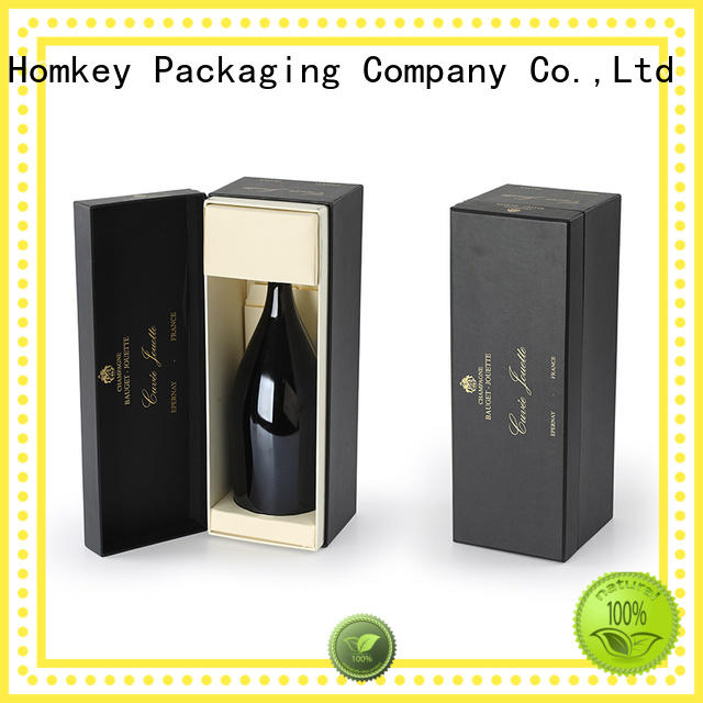 Homkey Packaging unique wine bottle gift boxes owner for gift wrapping