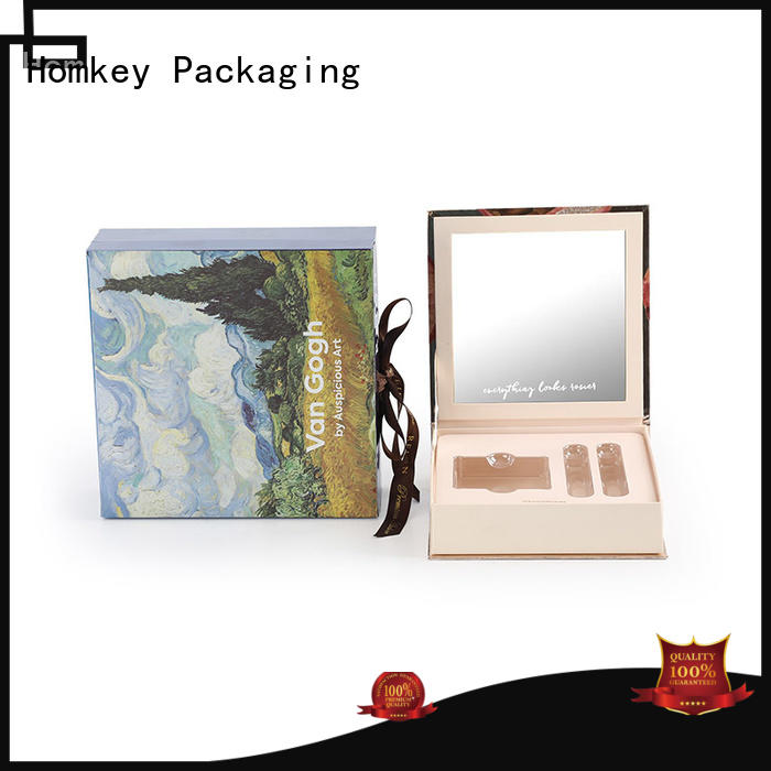 Homkey Packaging foldable cosmetic packaging boxes owner for Perfume