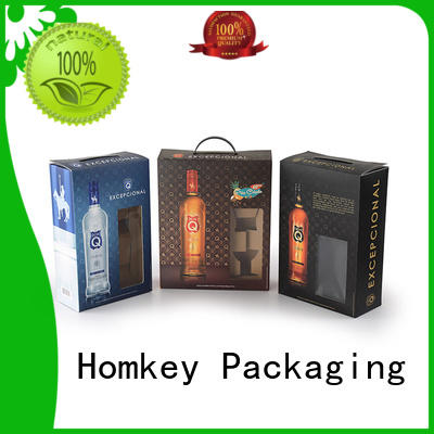 Homkey Packaging nice wine bottle gift boxes widely-use for gift packing