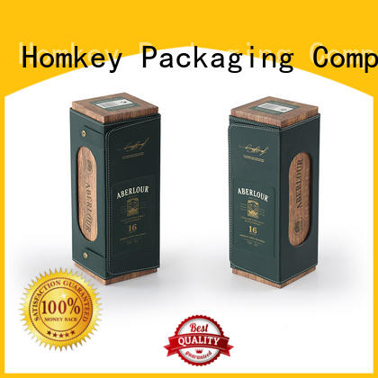 Homkey Packaging fine- quality wine bottle gift boxes owner for gift packing