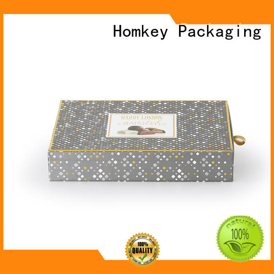 Homkey Packaging lid cheap chocolate boxes long-term-use for gift packing