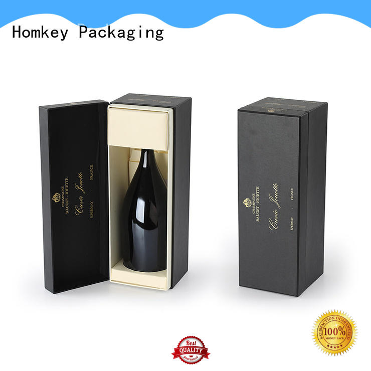 Homkey Packaging wine wine bottle gift boxes owner for gift packing