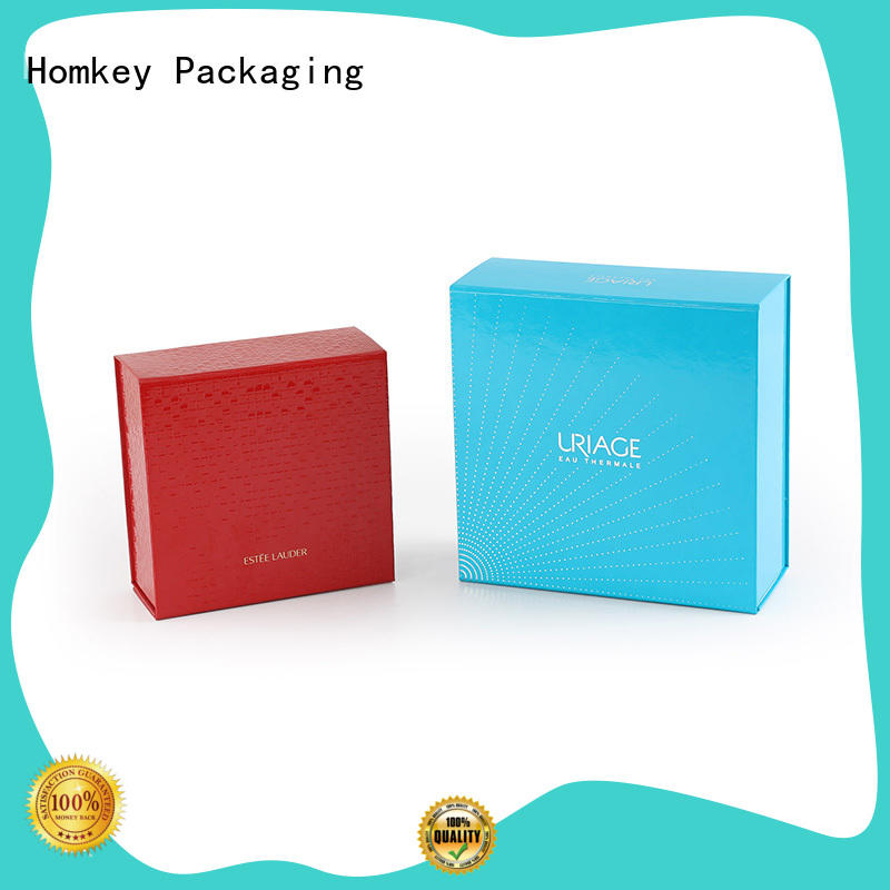 Homkey Packaging quality custom makeup boxes in different shape for skincare items