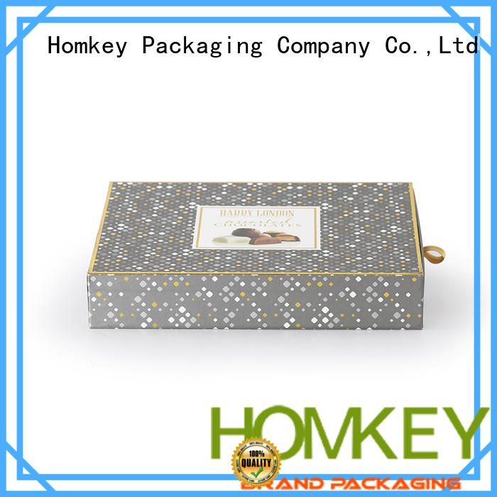 Homkey Packaging two chocolate gift boxes experts for product packing