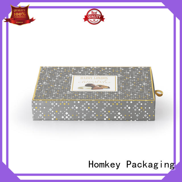 Homkey Packaging lid chocolate packing boxes free design for gift wrapping