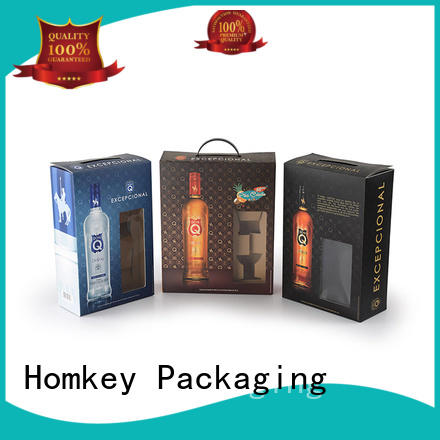 Homkey Packaging awesome wine gift box certifications for wire packing