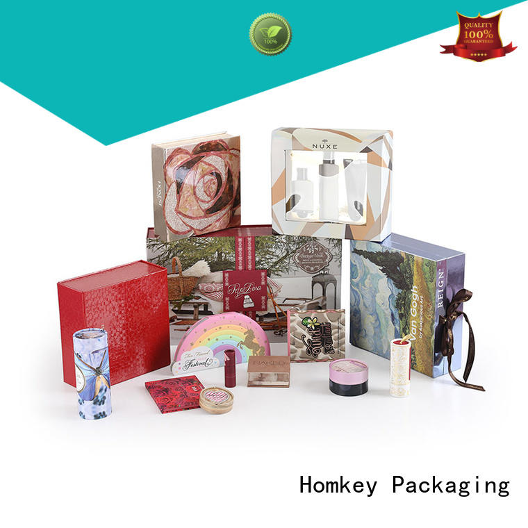 Homkey Packaging industry custom makeup boxes manufacturer for maquillage
