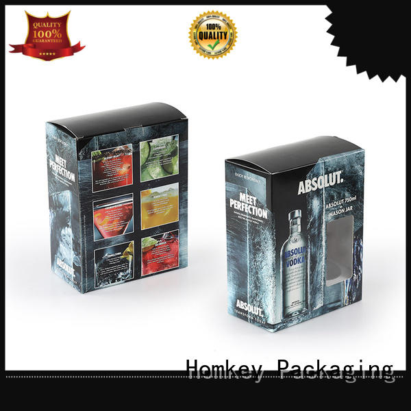 Homkey Packaging nice spirits box certifications for wire packing
