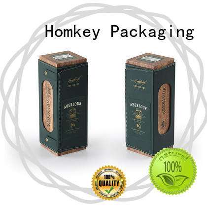 Homkey Packaging nice wine bottle gift boxes certifications for wire packing