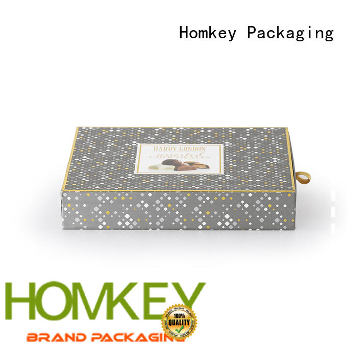 Homkey Packaging hot-sale custom chocolate boxes order now for factory