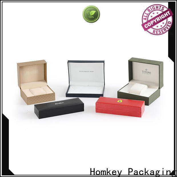 Homkey Packaging low cost jewelry boxes wholesale with Quiet Stable Motor for gift items