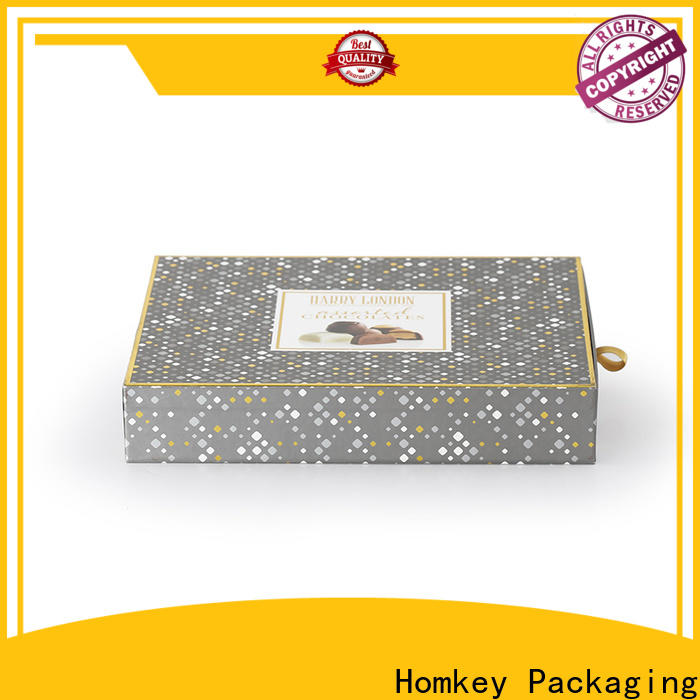 Homkey Packaging boxes custom chocolate boxes experts for factory