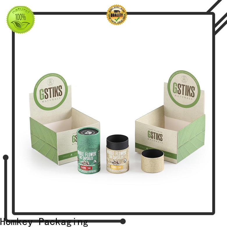 Homkey Packaging cannabis custom cardboard boxes bulk production for hospital