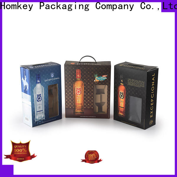 Homkey Packaging vodka wine case box in different shape for gift packing