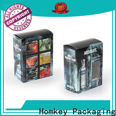 Homkey Packaging hot-sale spirits box owner for wire packing