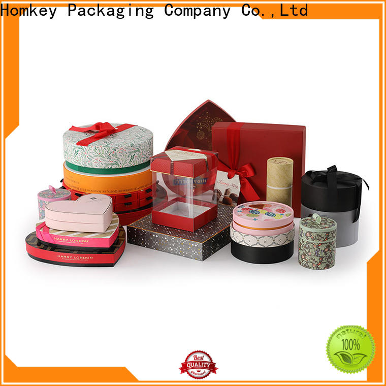 Homkey Packaging lid custom printed boxes supplier for product packing