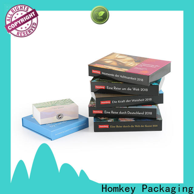 Homkey Packaging popular jewelry box packaging with Quiet Stable Motor for gift packing