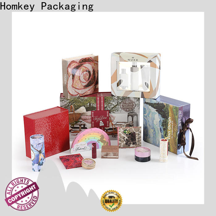 Homkey Packaging perfume cosmetic box packaging suppliers in different shape for maquillage