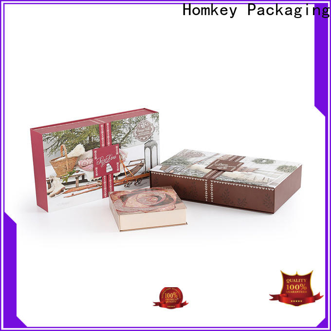 Homkey Packaging newly cosmetic packaging boxes in different shape for Perfume