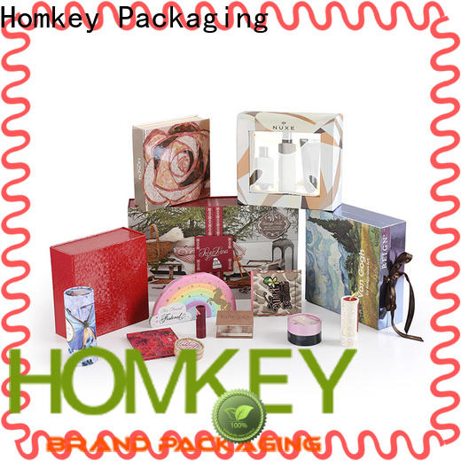 Homkey Packaging newly cosmetic box packaging suppliers in different shape for Perfume
