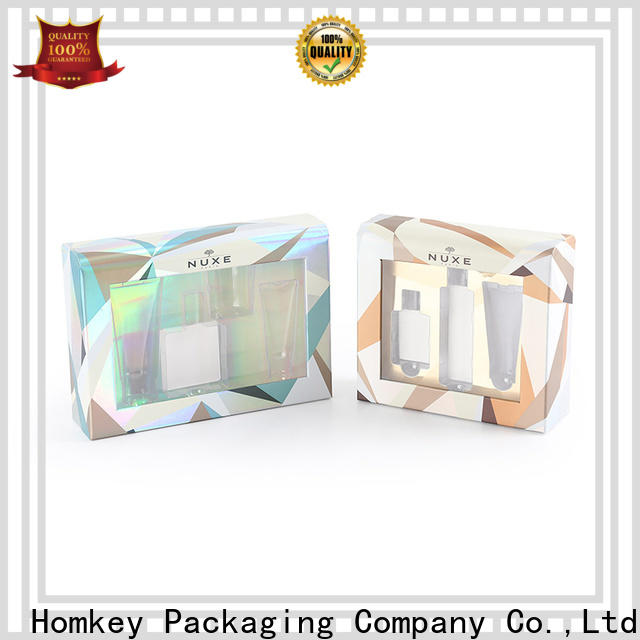 Homkey Packaging boxes custom makeup boxes in different shape for skincare items