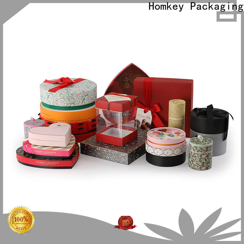 Homkey Packaging low cost custom chocolate boxes widely-use for gift wrapping