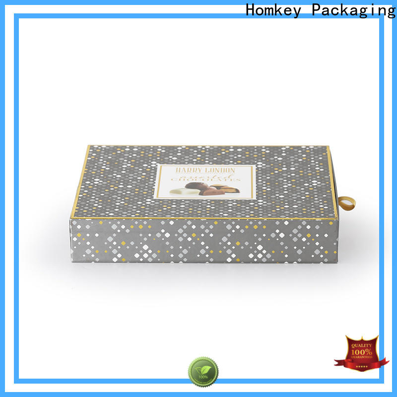 Homkey Packaging inexpensive chocolate gift boxes widely-use for gift wrapping