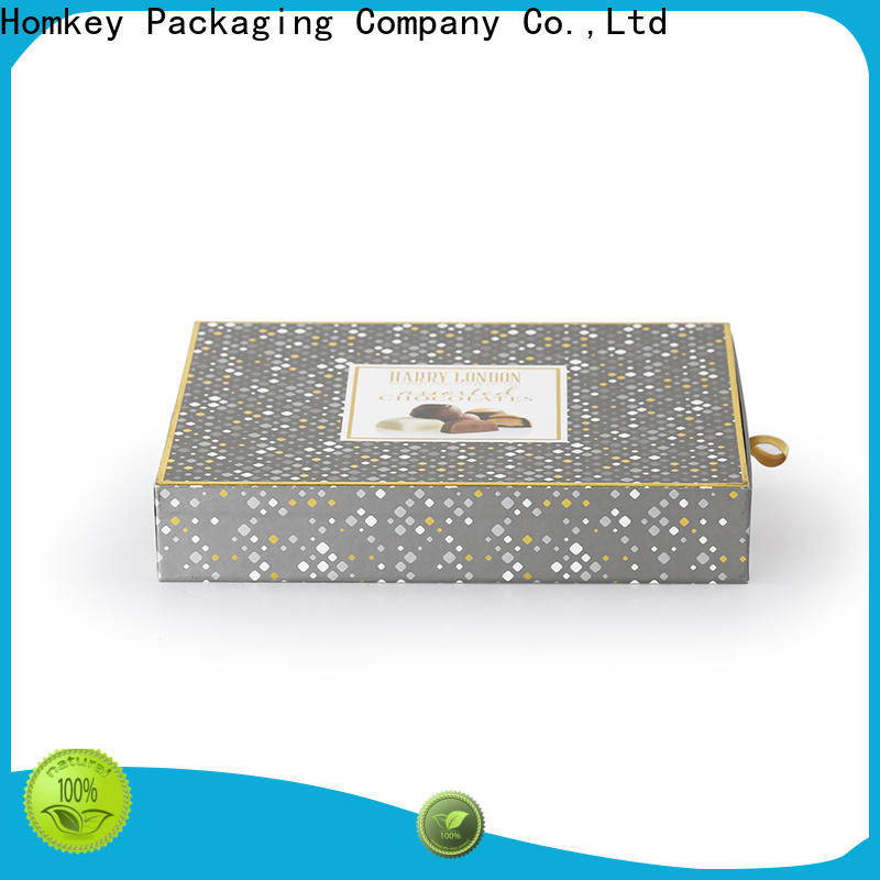 Homkey Packaging inexpensive cheap chocolate boxes free quote for product packing