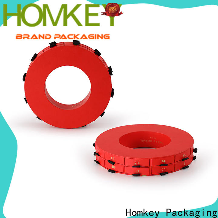 Homkey Packaging round custom printed boxes experts for factory