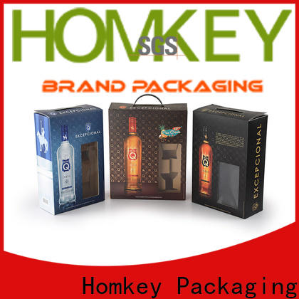 Homkey Packaging newly spirits box factory for wire packing