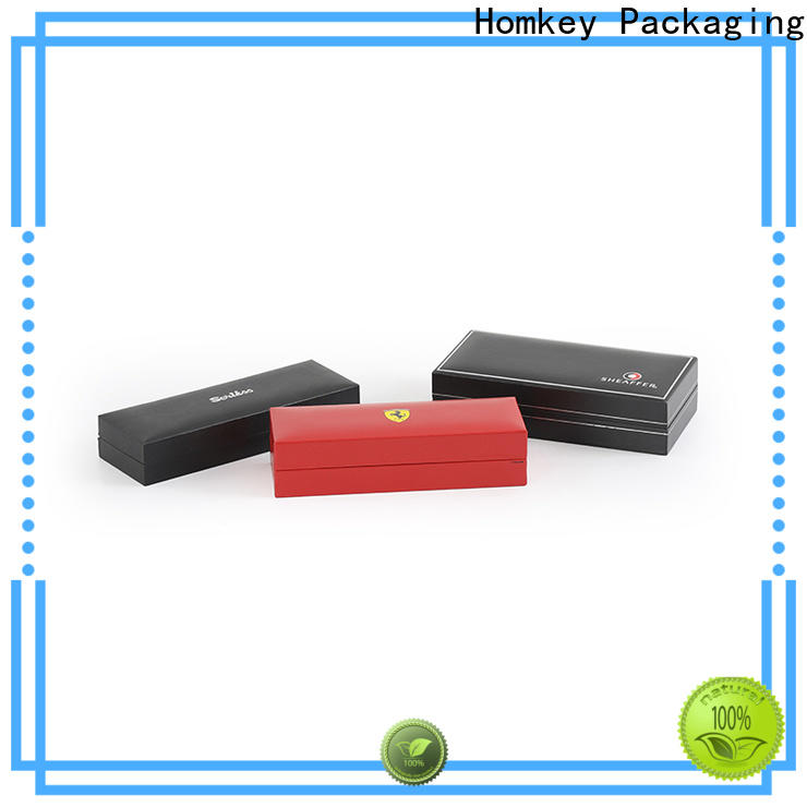Homkey Packaging layflat jewelry box packaging with cheap price for gift wrapping