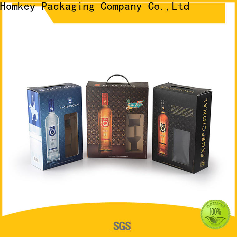 superior wine packing boxes vodka in different shape for gift wrapping