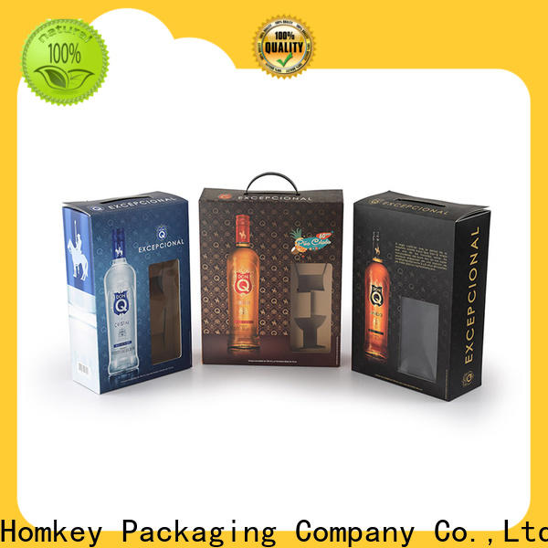 Homkey Packaging hot-sale wine case box certifications for wire packing