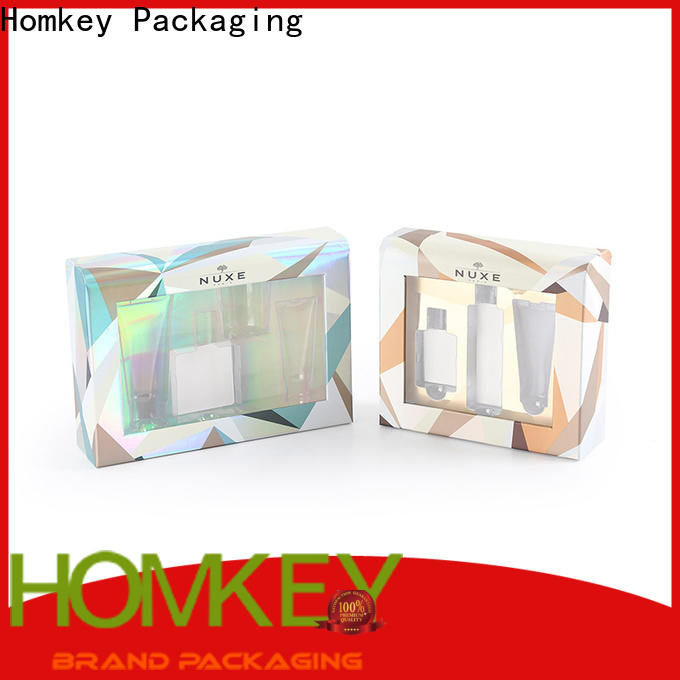 Homkey Packaging awesome custom makeup boxes in different shape for Perfume