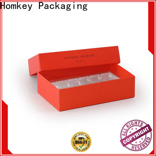 Homkey Packaging lid candy boxes wholesale free quote for gift wrapping