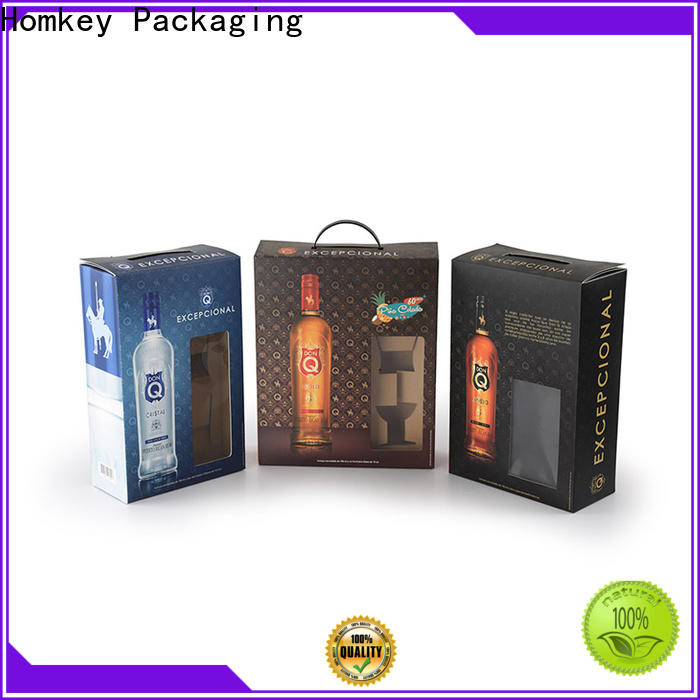 Homkey Packaging best wine bottle packaging certifications for wire packing