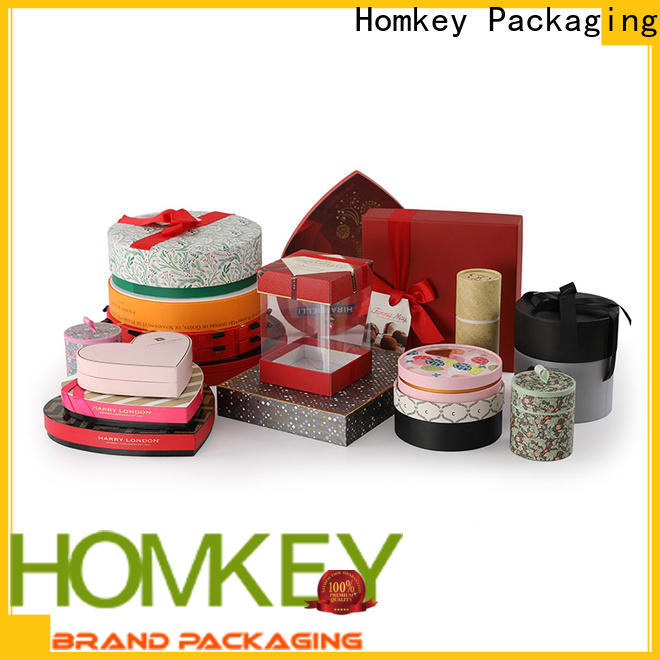 Homkey Packaging low cost chocolate gift boxes long-term-use for factory