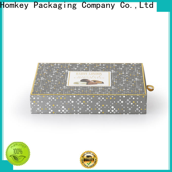 Homkey Packaging round chocolate packing boxes order now for product packing