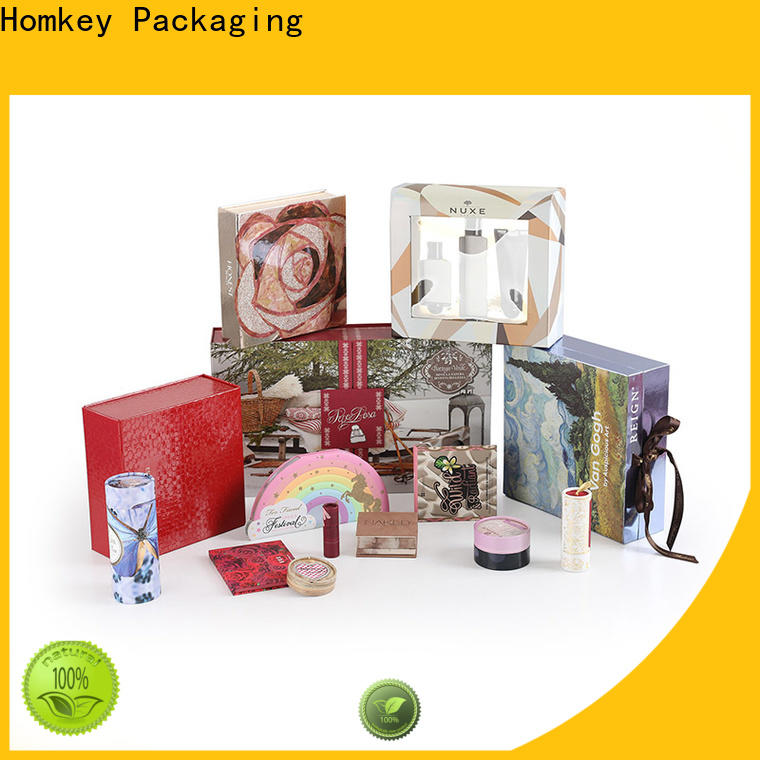 Homkey Packaging makeup cosmetic packaging boxes wholesale factory for cosmetics
