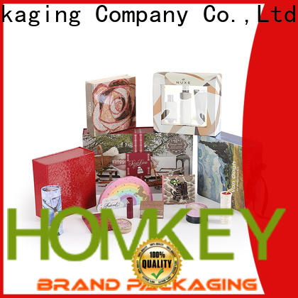 Homkey Packaging nice cosmetic packaging boxes wholesale in different shape for maquillage