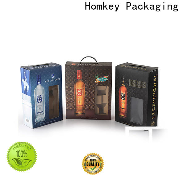 Homkey Packaging box wine case box in different shape for gift packing